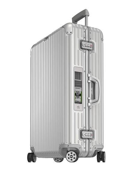 "Topas Silver 32"" E-Tag Multiwheel Luggage"