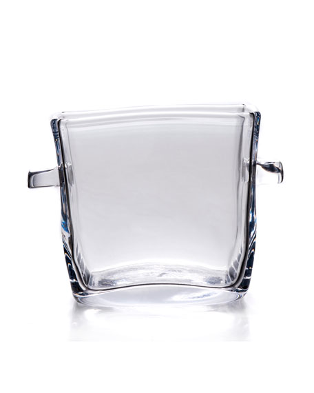 Woodbury Square Glass Ice Bucket