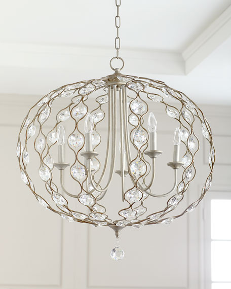 Jamie Young 6-Light Crystal Pendant Chandelier