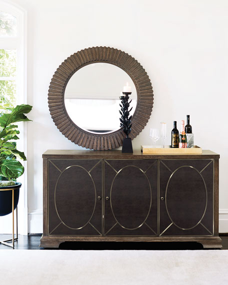 Bernhardt Clarendon Round Mirror and Matching Items
