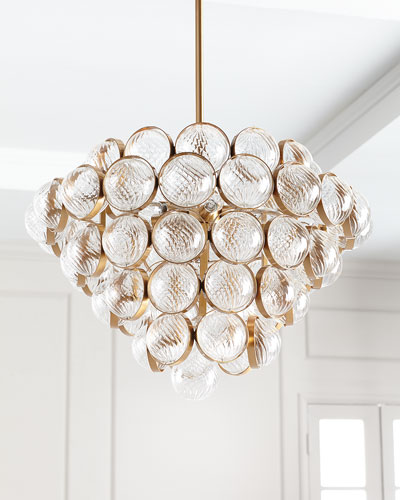 Sphaira glass metal chandelier