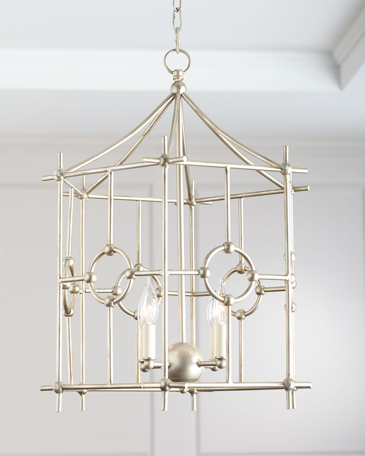 Silver Six-Sided Park Chandelier | Neiman Marcus