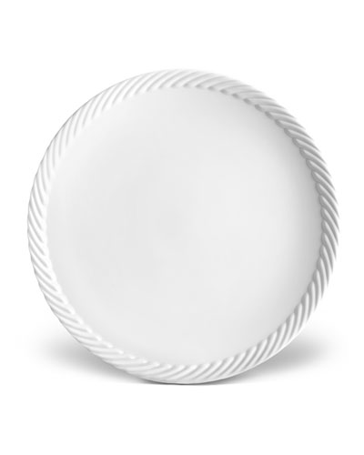 Corde Dinner Plate, White