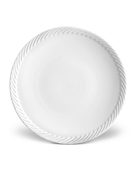 L'Objet Corde Salad/Dessert Plate, White