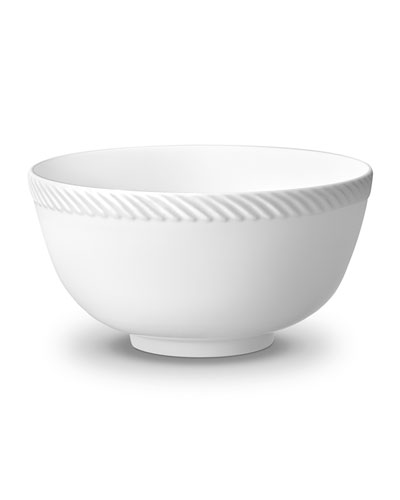 Corde Cereal Bowl, White