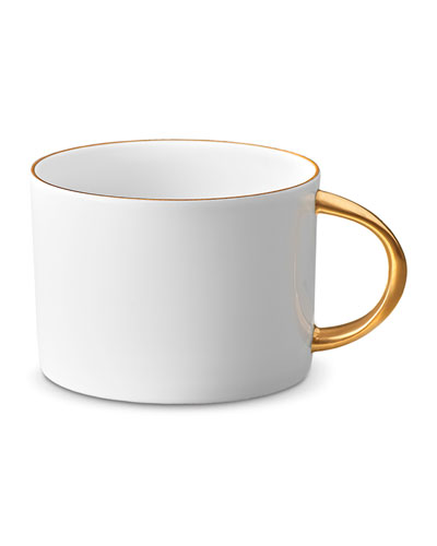 Corde Tea Cup, White/Gold