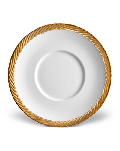 Corde Saucer, White/Gold