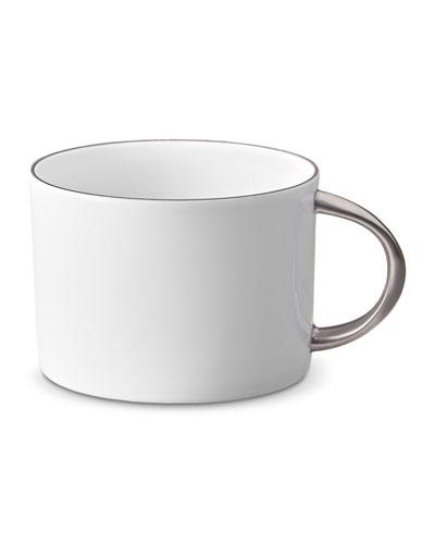 Corde Tea Cup, White/Silver