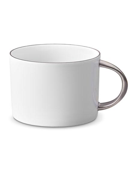 L'Objet Corde Tea Cup, White/Silver