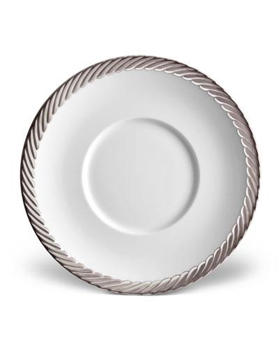 Corde Saucer, White/Silver