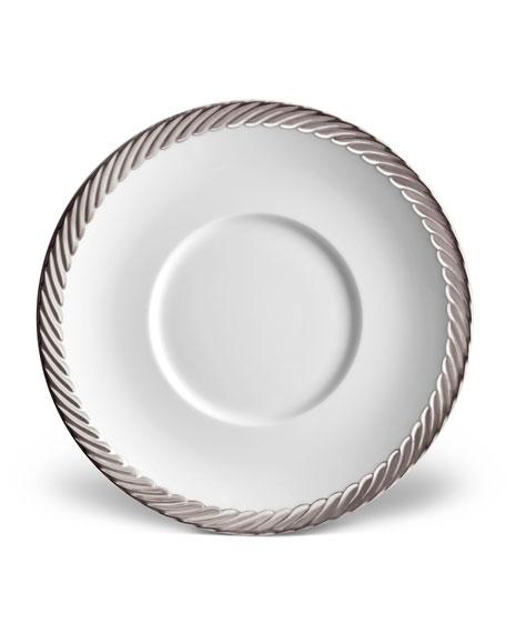L'Objet Corde Saucer, White/Silver