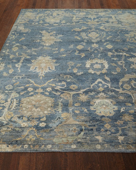 Williamsburg Hand-Knotted Rug, 6' x 9'