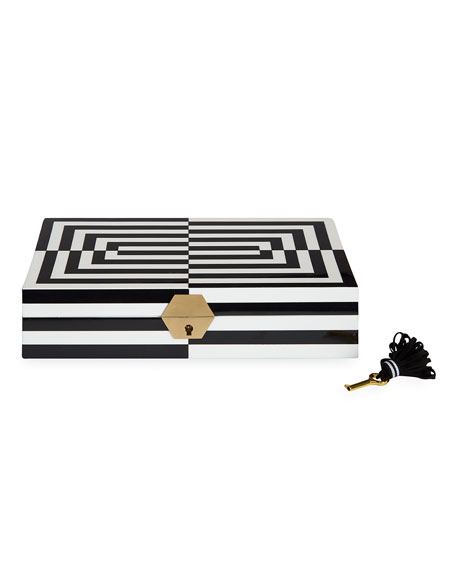 Op Art Lacquer Jewelry Box