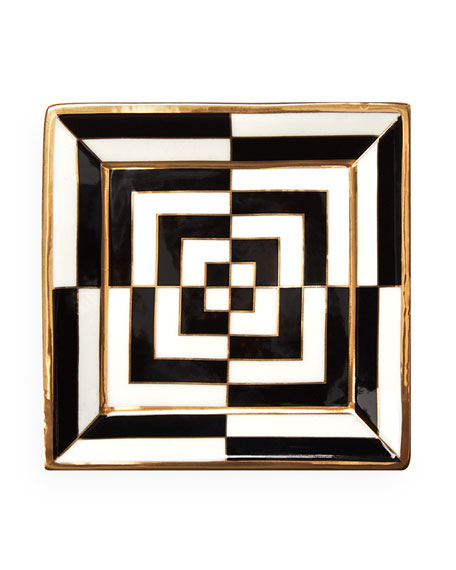 Op Art Square Tray