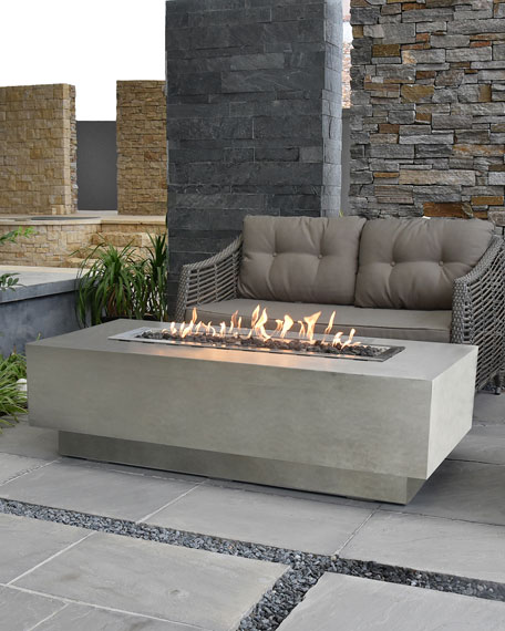 Elementi Granville Outdoor Fire Pit Table with Natural