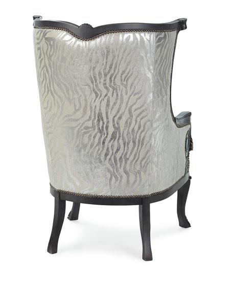 Tina Hair Hide Wing Chair