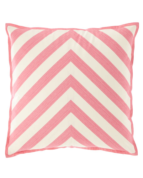 "Stratford Stripe Pillow, 22""Sq."