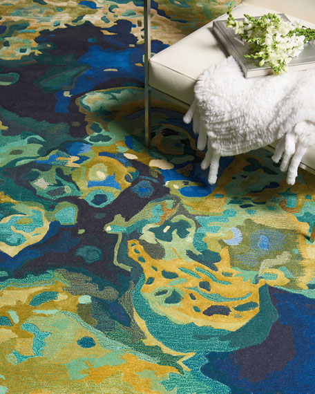 Venetian Lagoon One of a Kind Rug, 7.75' x 9.75'