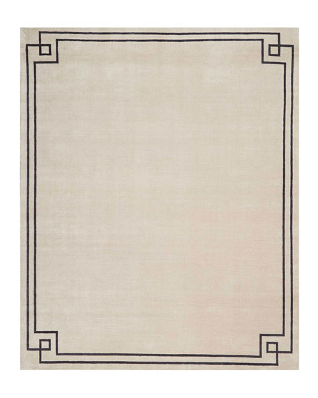 Finesse Mediterranean Sand Hand-Knotted Rug, 8' x 10'