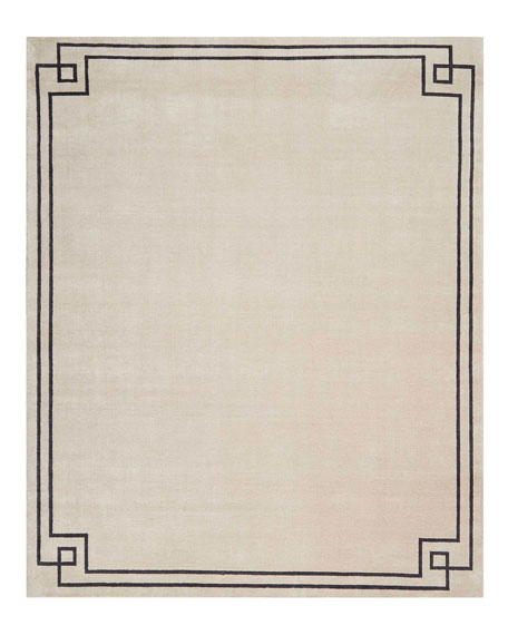 Christopher Guy Finesse Mediterranean Sand Hand-Knotted Rug, 8'