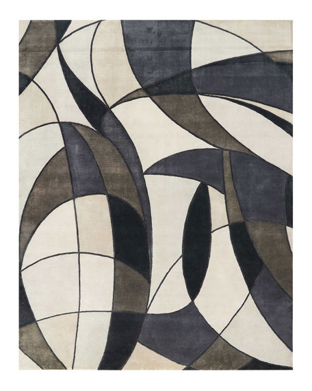 Christopher Guy Asymetrie Mediterranean Hand-Knotted Rug, 10' x 14'