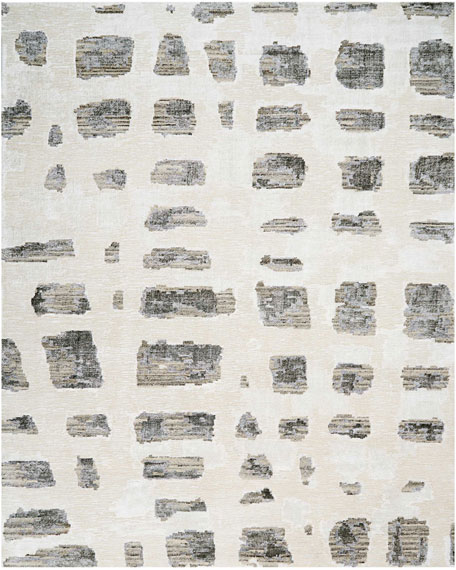 Misted Morning Hand-Knotted Rug, 9' x 12'