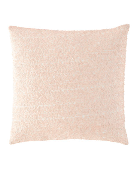 "Glaze Sequin Slipper Pink Decorative Pillow, 18""Sq."