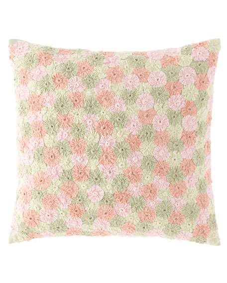 "Arielle Embroidered Decorative Pillow, 20""Sq."