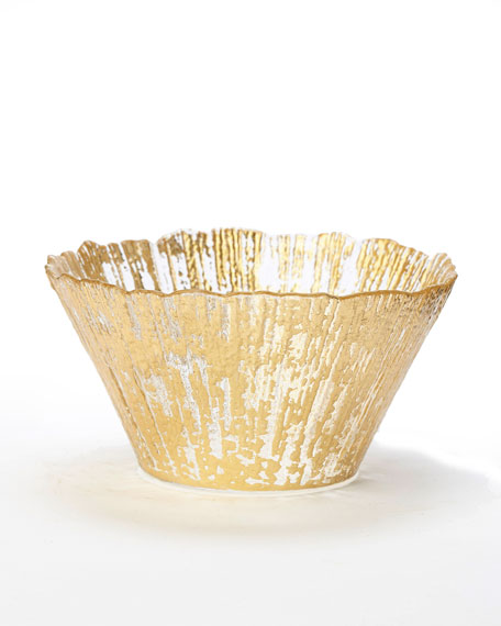 Rufolo Glass Small Deep Bowl, Gold
