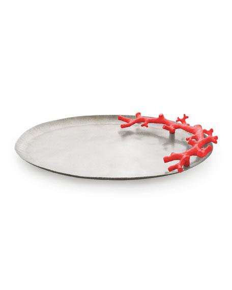 Michael Aram Ocean Reef Large Platter, Red