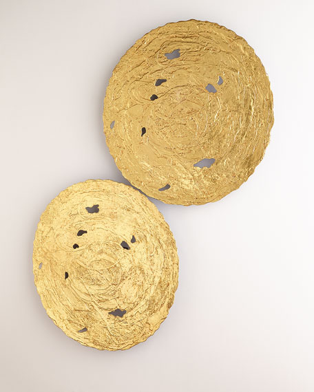 Large Gold Circle Wall Decor