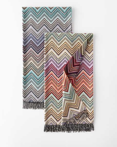 Wool-Blend Zigzag Throw