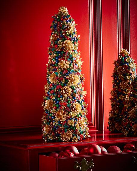 "Tartan Cheer Tabletop Christmas Tree, 24"""