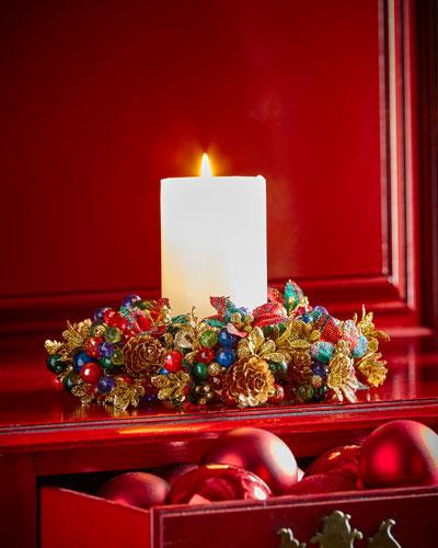 Tartan Cheer Candle Ring Wreath