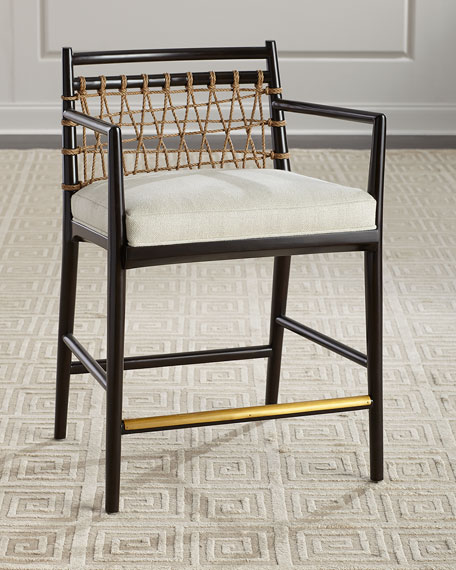 Palecek Lucilla Upholstered and Jute Counter Stool and