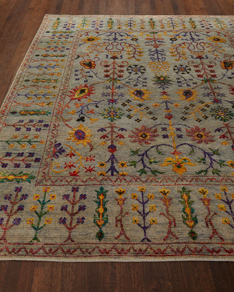 Etta Hand-Knotted Rug, 8' x 10' and Matching