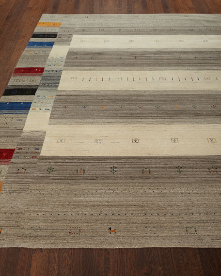 Aviane Hand-Loomed Rug, 6' x 9' and Matching