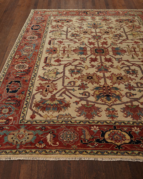 Reyhan Hand-Knotted Rug, 6' x 9' and Matching