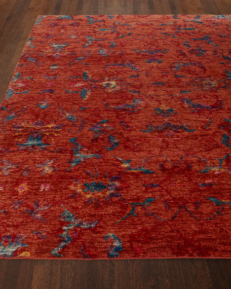 Cecily Hand-Knotted Rug, 8' x 10' and Matching