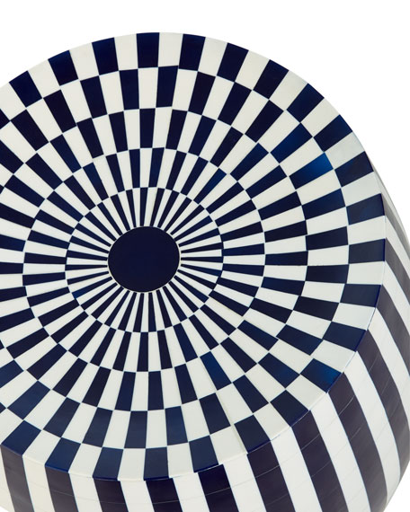 Celesta Striped Side Table/Stool
