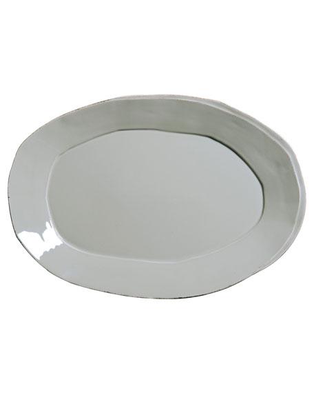 Vietri Lastra Oval Platter, Gray