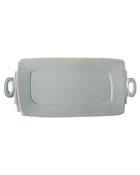 Lastra Handled Rectangular Platter, Gray