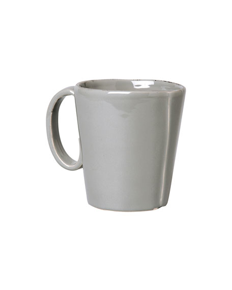 Vietri Lastra Mug, Gray