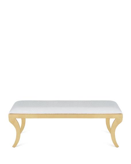 Addyson Gold Leaf Bench
