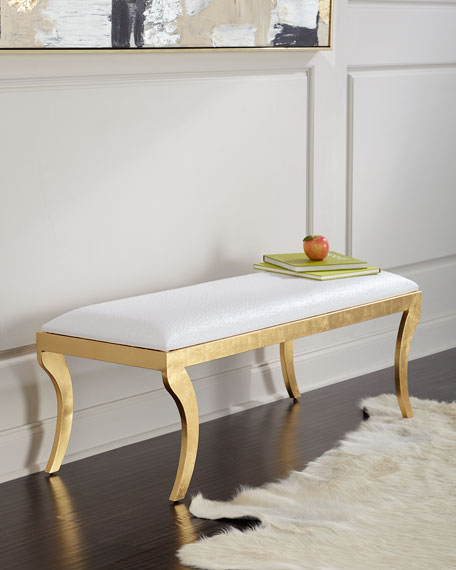 Addyson Gold Leaf Bench