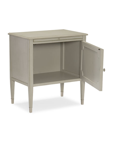 Ashleena Glass Door Night Stand