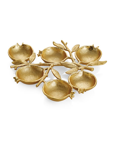 Michael Aram Pomegranate 6-Compartment Plate