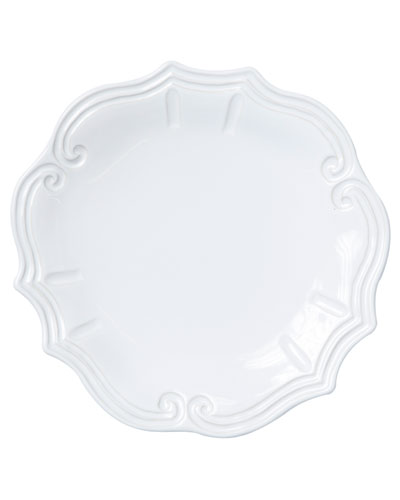 Incanto Stone Baroque Dinner Plate, White