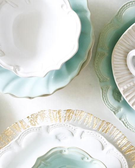 Incanto Stone Lace Salad Plate, Aqua