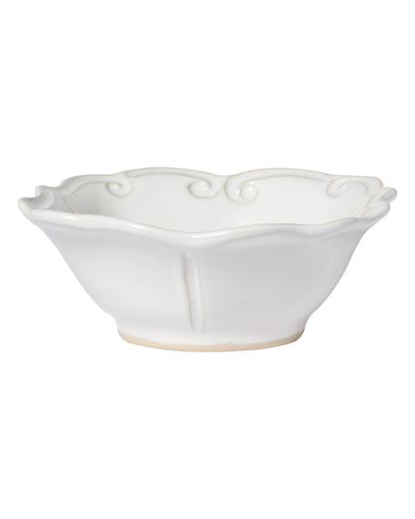 Incanto Stone Baroque Cereal Bowl, White